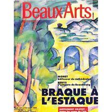 BEAUX ARTS n°125 juillet aout 1994 Braque et l'estaque Beuys Monet Markus Raetz