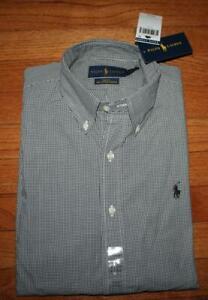 NWT Polo Ralph Lauren Mens Slim Fit Stretch Buttondown Dress Shirt Pony Logo *2T