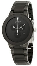 Citizen AT2245-57E Men's Eco Drive Axiom Black IP Black Dial Chronograph Watch