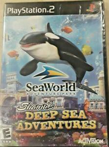 NEW SeaWorld: Shamu's Deep Sea Adventures (Sony PlayStation 2) PS2 GAME SEALED