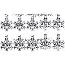 10X/set -K289 Silver Christmas Snowflake Winter Akoya Oyster Pearl Cage Locket