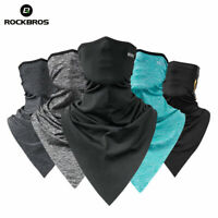 ROCKBROS Cycling Sport BreathableTriangle Bandana Ice Silk Headband Face Mask