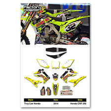 2014-17  HONDA CRF 250 Dirt Bike TLD Neon Graphics kit Motocross Graphics Decal