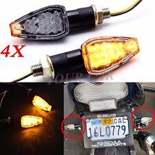 12V Amber Cafe Racer Bobber Chopper Motorcycle LED Turn Signal Indicator Lights