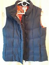LILLY PULITZER Navy Blue Goose Down Vest Womens Size M