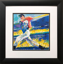 "LeRoy Neiman ""The Dimaggio Cut '98"" Baseball CUSTOM FRAMED ART NY Yankees swing"