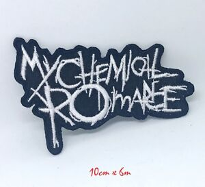 My Chemical Romance Gerard Way Music White Embroidered Iron/Sew on Patch #1255