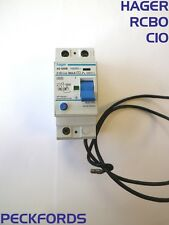 Hager C10 AD 020B 104252s 30mA 230V RCBO MCB / RCD 2 Double Pole