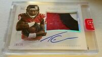 Tevin Coleman 2015 Panini National Treasures RC Rookie 3 CLR JSY Auto /25 49ers