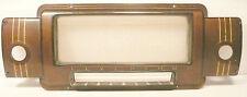 "vintage SILVERTONE * model 7050 part:  ESCUTCHEON, GLASS, & SCREWS 12"" x 4 & 1/2"