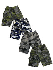 Boys Kids Shorts Army Camo Camouflage Combat Cargo Summer Fashion Pockets