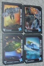 Transformers Titans Return 4 Card Lot Generations RAVAGE STRIPES COSMOS SEAPSRAY