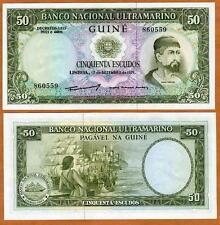 Portuguese Guinea, 50 Escudos, 1971, P-44, CV = $50 UNC