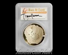 Nolan Ryan Set w//2 $1 Silver Coins /& PCGS Autograph 2014 Hall of Fame 2009 Eagle