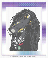 AFGHAN HOUND (Dog/Pet) Counted Cross Stitch Chart PATTERN