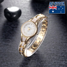 New Charming  Women's Gold and White Wrist Watch With Shinning Crystal