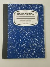 Composition BLUE Marble Wide Ruled Notebook 100 Sheets 200 Pages School Planner