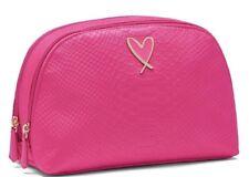 Victoria's Secret Black Python Glam Double Zip Case Cosmetics Bag