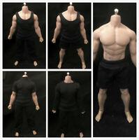 """1:12 Scale Pants T-shirt Clothes Fit 6"""" Male PH TBLeague HT SHF Figure Body"""