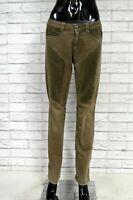Pantalone Donna CARLO CHIONNA Taglia 28 Jeans Pants Woman Cotone Elastico Slim