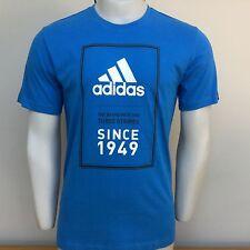 Adidas Rendimiento Deportivo 1949 camiseta Azul Real L Grande 42/44 BNWT