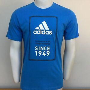 Adidas sports performance 1949 t shirt royal blue S small 36/38 bnwt