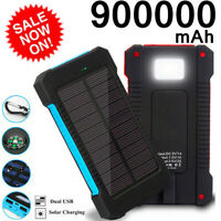Portable 900000mAh Solar Power Bank Polymer Battery External Charger Travel 2020