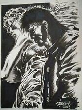 """The Crow James O'Barr Obarr Eric Draven Original Art SKETCH 12'X 9.5"""""""