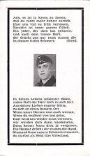 Sterbebild Landser aus Auersmacher + 1944