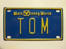 New listing Mickey Mouse Walt Disney World Tom Mini Name Metal Bike License Plate Sign