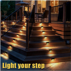 32Pcs Outdoor Led Lights Ip65 Garden Patio Pathway Stairs Step Fence Lamp
