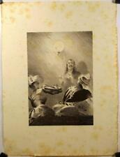 Lithographie originale de Dillon, Le monologue