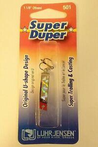 "Luhr-Jensen Super Duper Fishing Lure 1-1/8"" 501 Nickel/Red Head 1303-501-0130"