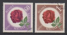 Hungary - 1959, May Day Flowers (Roses) set - F/U - SG 1562/3