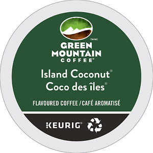 Green Mountain Coffee Keurig K-Cups, Island Coconut, Flavored Coffee - 24 Count
