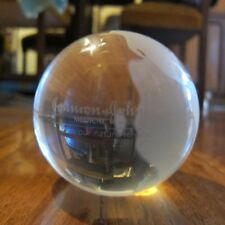 Johnson & Johnson Promotional Solid Glass Earth Globe Brand New & Boxed