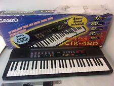 Casio CTK-480 Musical Keyboard 100 Sounds 50 Rhythms 20 Songs