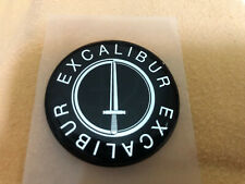 "ECALIBUR Neoclassic Wheel Centers Emblems Domed Badge Authentic 44.5mm dia 1.75"""