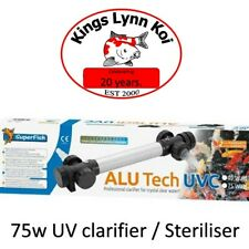 Superfish 75 watt Alutech Koi Fish Pond UV light clarifier / steriliser. UVC 75w