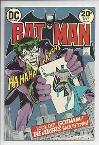 BATMAN #251 VF- (7.0) CLASSIC NEAL ADAMS JOKER COVER (1973)