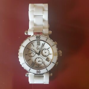 Guess Collection G43001M Watch Mother Of Pearl Face Swiss Made New Battery