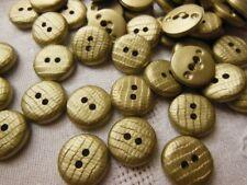 lot 18 boutons doré deux trous effet reptile mercerie diamètre: 1,4 cm TA