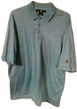 Nike Golf Mens Tiger Woods Short Sleeve Teal Blue Golf Polo Shirt XL