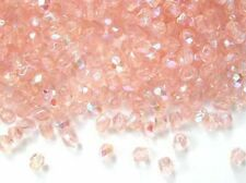 50 peach AB Czech glass fire polished beads - 4mm (7012ab)