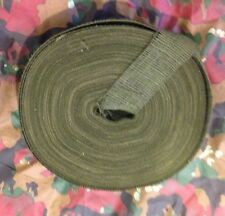 """2"""" Wide Army Hunting Designer Camouflage Olive Green Burlap Roll, By The Yard."""