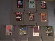 Original NES Nintendo Game lot of 10. Punch Out Donkey Kong TMNT Excitebike EUC!