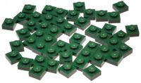 LEGO - 50 x Platte 1x1 dunkel grün / Dark Green Plate 1 x 1 / 3024 NEUWARE