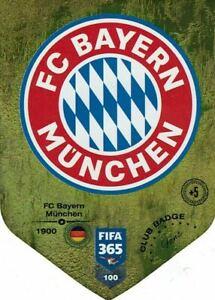 PANINI ADRENALYN FIFA 365 2019 N.100 BAYERN CLUB BADGE