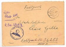 AJ314 1944 WW2 GERMANY Hospital Feldpost 36258 Military Cover {samwells-covers}