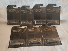 Hot Wheels 50th Anniversary Gold set Including Chase
